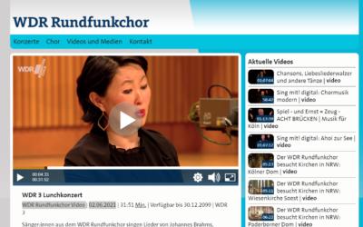 WDR Rundfunkchor Video 02.06.2021